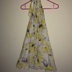 Yellow watercolor dress